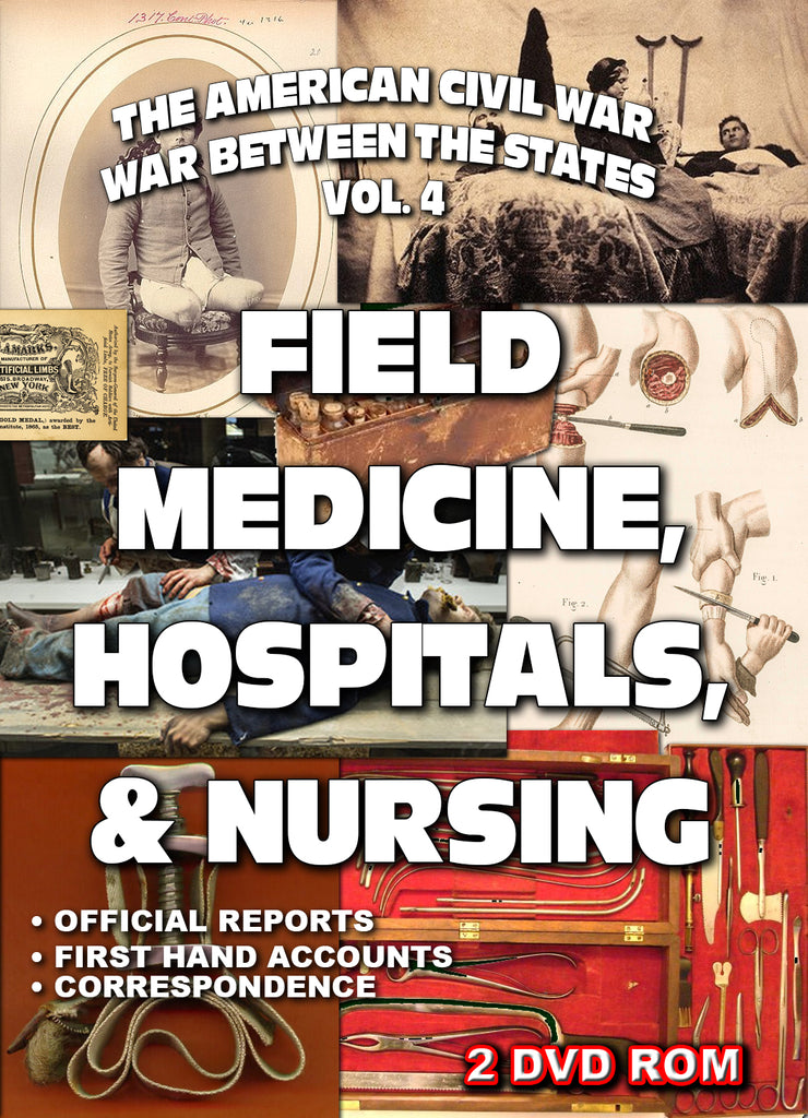 The American Civil War Vol 4: Medicine, Nursing & Hospitals - 2 DVD-ROM boxed shrink wrapped