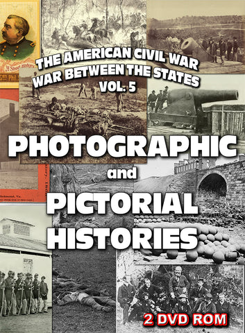 The American Civil War Vol 5: Pictorial & Photographic Histories  2 DVD-ROM box