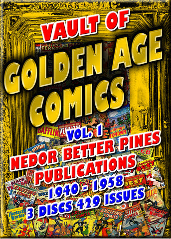 Golden Age Comics Vol. 1- Nedor/Better/Pines 1940-56 - 752 issues 3 DVD-ROM boxed