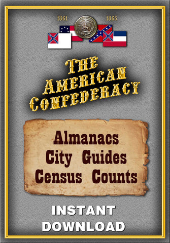 Confederate Almanacs, City Guides & Census Counts - Instant Download - Gene's Weird Stuff  - 1