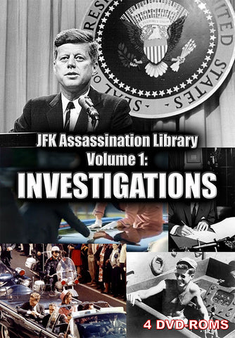 JFK Assassination Library Vol. 1 of 5: Investigations -  4 DVD-ROM boxed - Gene's Weird Stuff  - 1