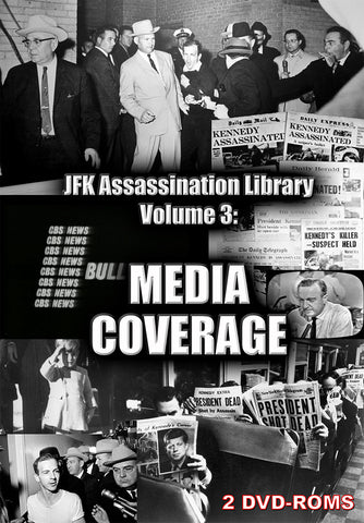 JFK Assassination Library Vol 3 of 5: Media coverage -  2 DVD-ROM boxed - Gene's Weird Stuff