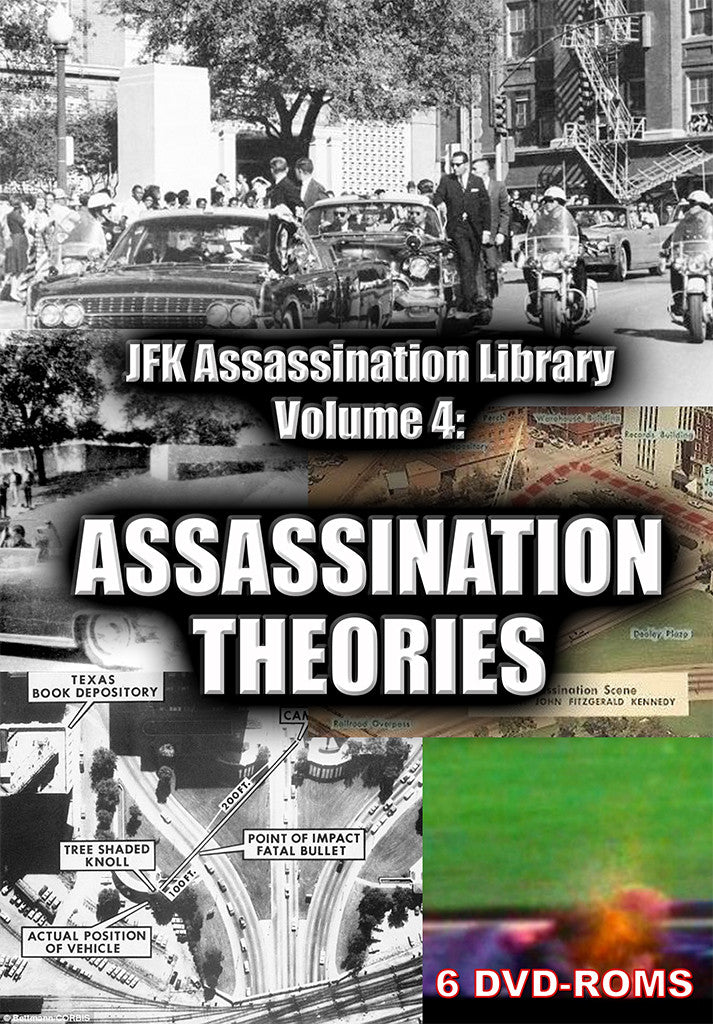 JFK Assassination Library Vol 4 of 5: Theories -  6 DVD-ROM boxed - Gene's Weird Stuff