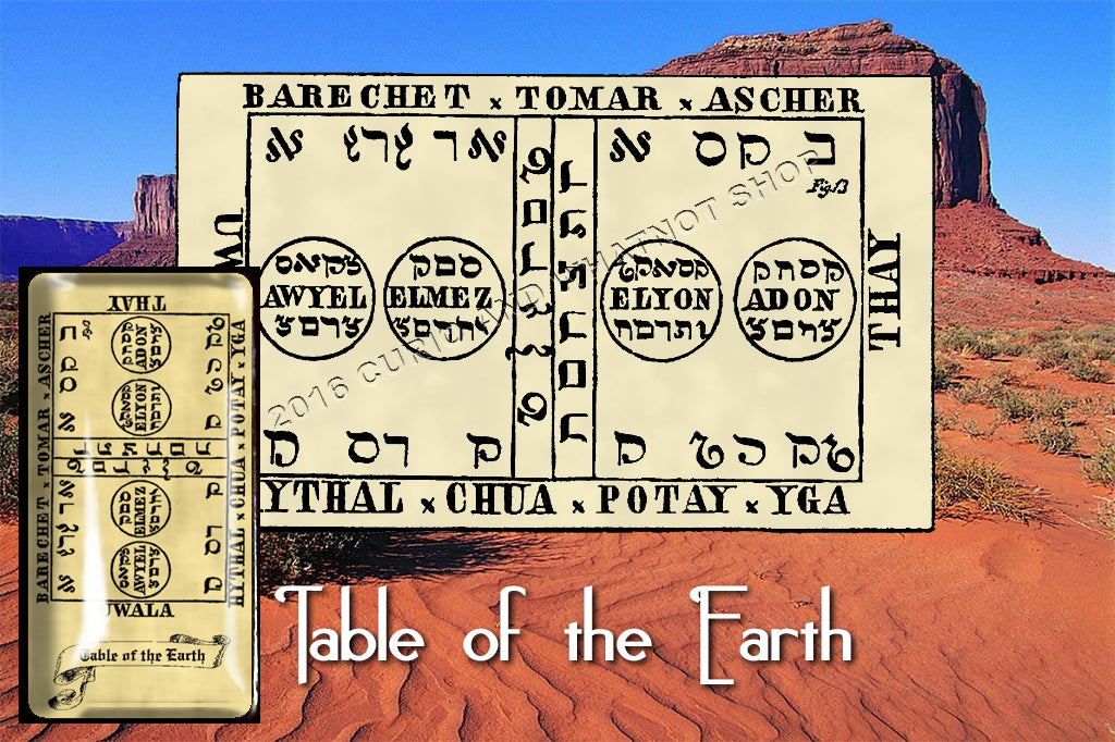 Second Table of the Spirits of the Earth from the 6th & 7th Books of Moses high resolution printed on 24# Parchment 4 sizes, 19 copies total, pendant