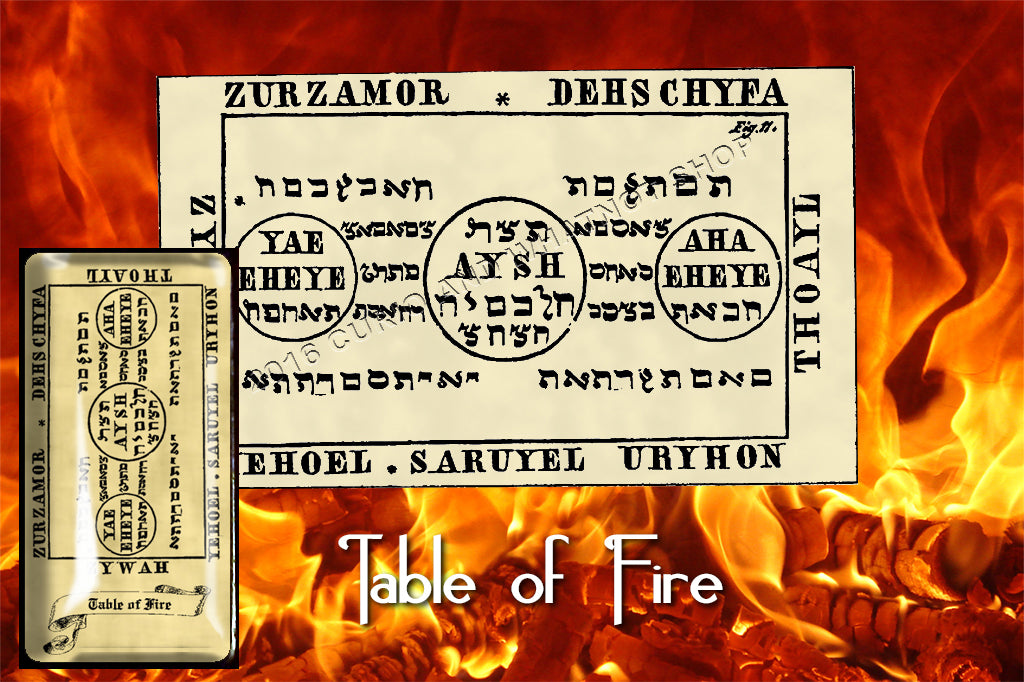 Third Table of the Spirits of Fire from the 6th & 7th Books of Moses high resolution printed on 24# Parchment 4 sizes, 19 copies total, pendant