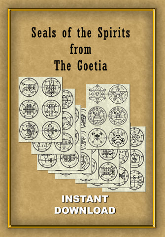 Printable Seals of the Spirits from the Goetia - instant download - Gene's Weird Stuff  - 1