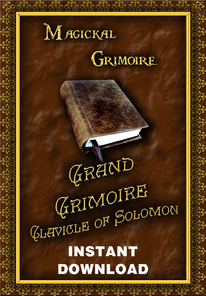 Grand Grimoire of the Clavicle of Solomon - instant Download - Gene's Weird Stuff