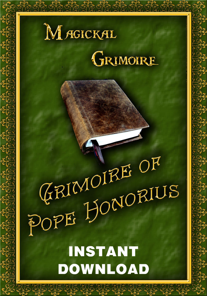 Grimoire of Pope Honorious - Instant Download - Gene's Weird Stuff