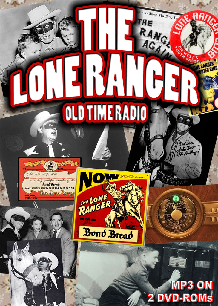 Lone Ranger Old Time Radio 913 episodes mp3 on 2 DVD-ROMS Old Time Radio boxed set