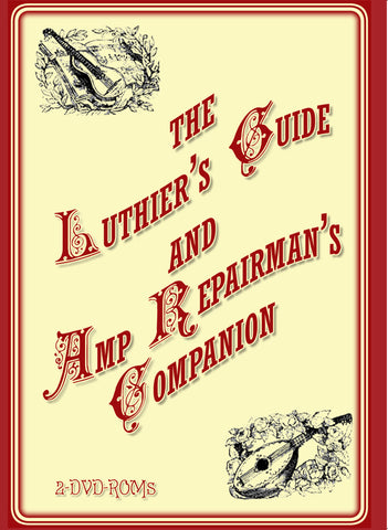 BEST SELLER! Luthier's Guide & Amp Repairman's Companion 2 disks boxed