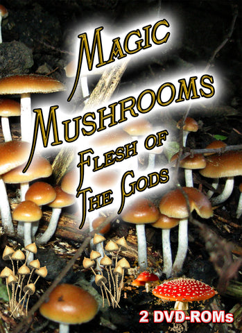 Magic Mushrooms - Flesh of the Gods -  BANNED FROM EBAY  2 DVD-ROM boxed set