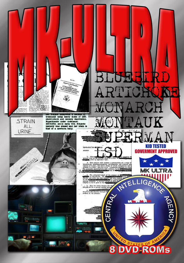 MK-ULTRA DECLASSIFIED - BANNED FROM eBAY - 8 DVD-ROM boxed shrinkwrapped library