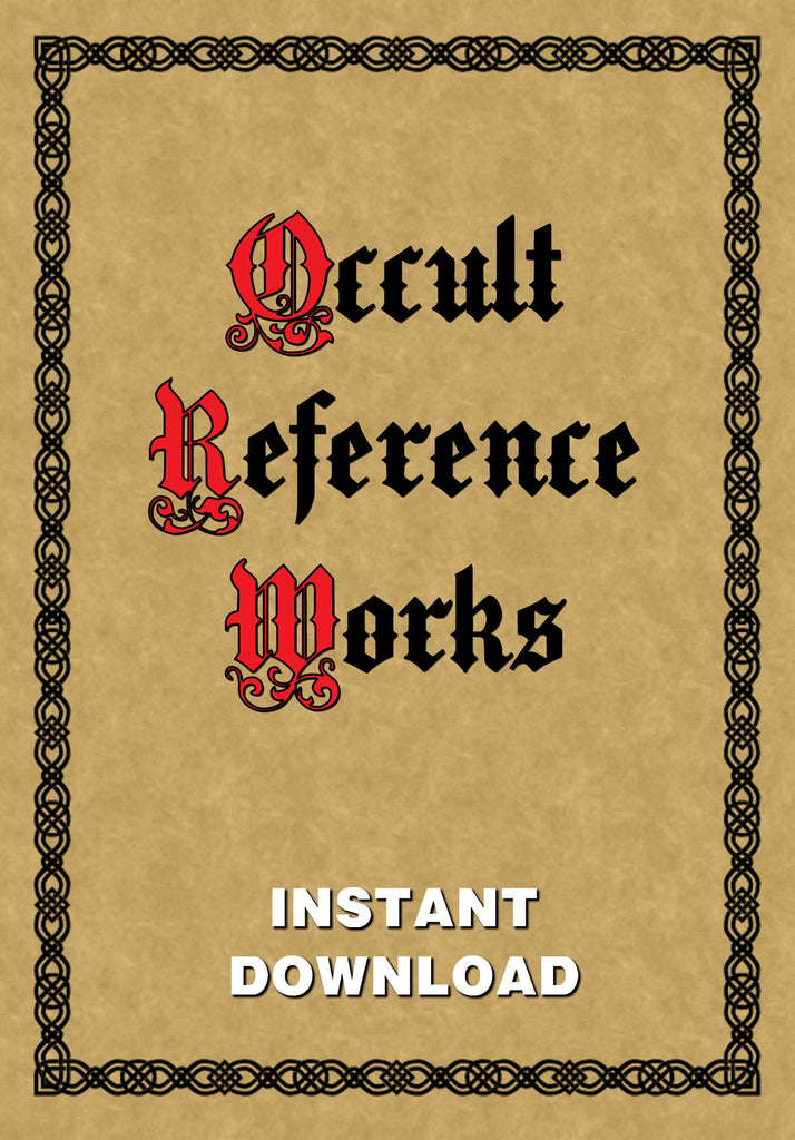 Occult Reference Works - Instant Download - Gene's Weird Stuff