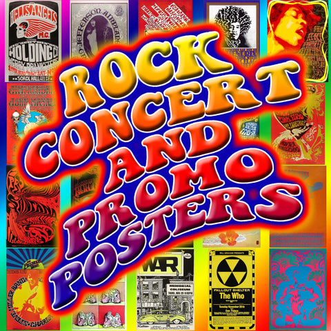 Rock Concert and Promo Posters 1950s thru 1970s! Rock history! instant download