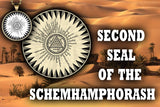 Second Seal of the Schemhamphorasch from the 6th & 7th Books of Moses high resolution printed on 24# Parchment 4 sizes, 19 copies total; pendant