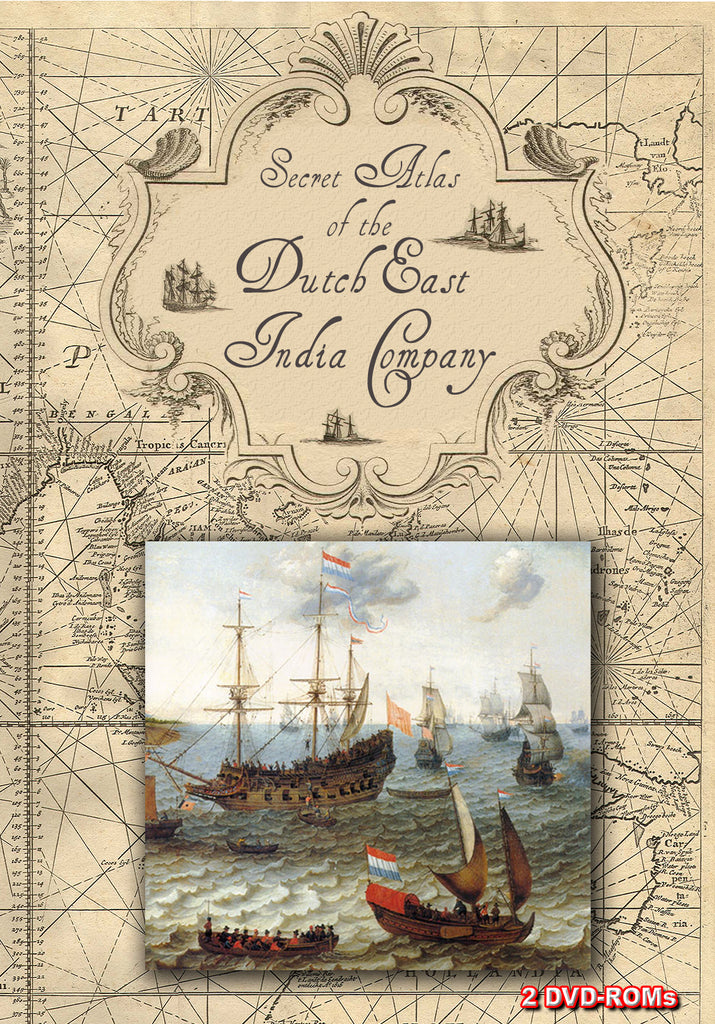 Secret Atlas of the Dutch East India Company- 18th C. Sea Charts 2 DVD-ROM box