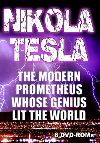 Nikola Tesla The Modern Prometheus Whose Changed the World -6 DVD-ROM box set