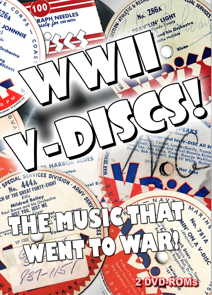 WW II V-Discs - Music that went to war! 2414tracks, mp3 on 2 DVD-ROM boxed