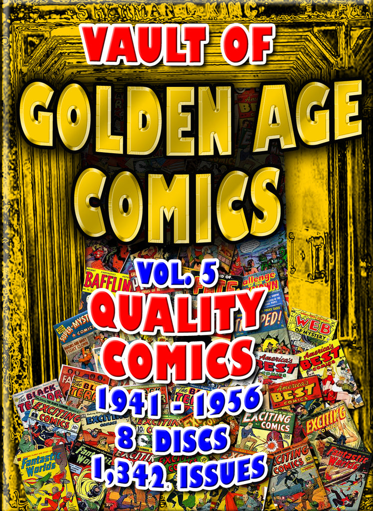 Golden Age Comics Vol. 5 -  Quality  1300+ issues - 8 DVD-ROM boxed