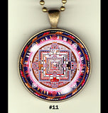 "Tibet themed handcrafted photo pendants 30 mm  (1-1/4"") on 24"" chain"