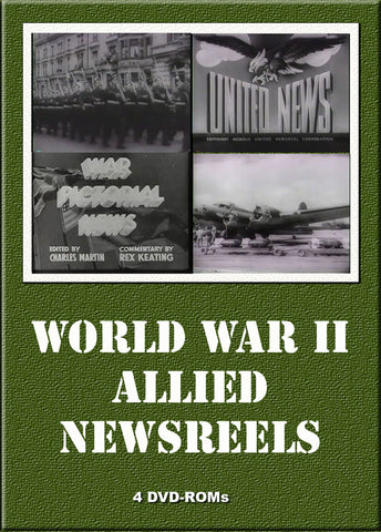 WW II Allied newsreels & films 4 DVD-ROMs boxed