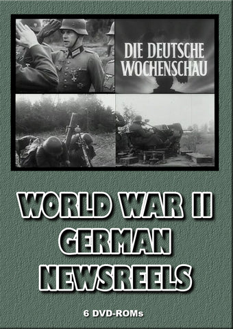 WW II German newsreels  BANNED FROM EBAY - shrink wrapped boxed 6 DVD-ROMs