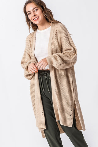 Longline Cardigan Sweater