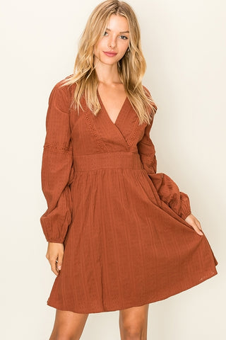 V-Neck Cotton Dress