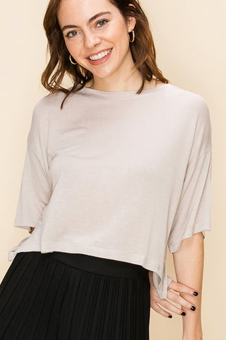Drop Sleeve Crop Top