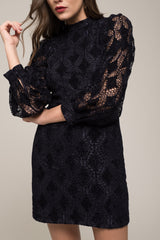 Moon River Velvet Lace Dress