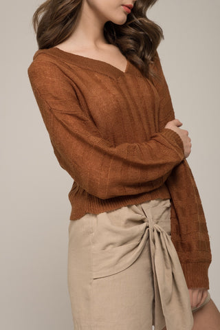 Moon River Cropped Rib Sweater