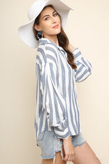 Striped Collared Shirt