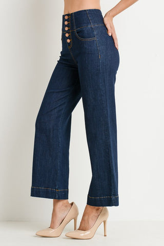 C'est Toi High Waist Wide Leg Denim