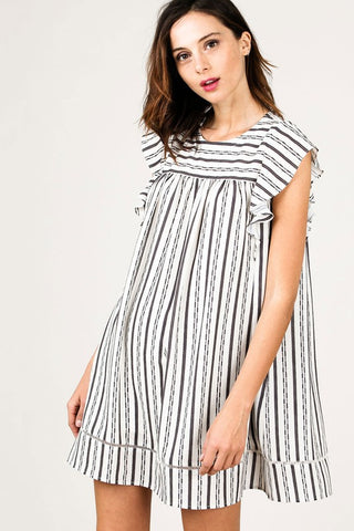 Striped Baby Doll Dress