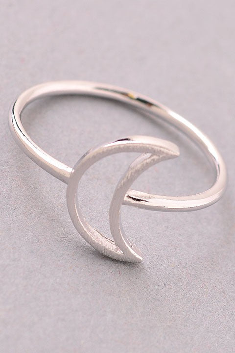 Crescent Moon Cut Out Ring