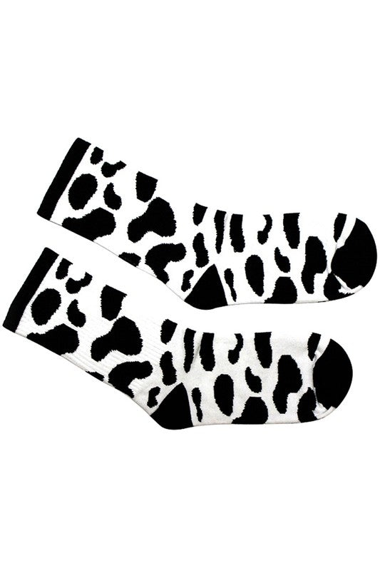 Cow Print Ankle Socks