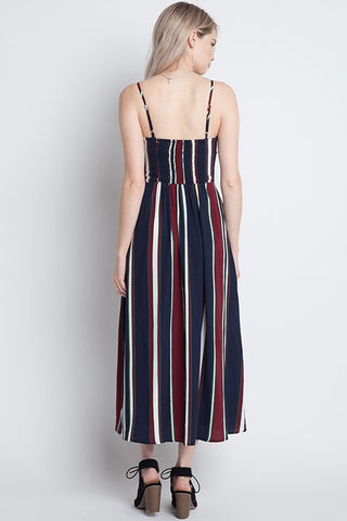 Dreamers Striped Ribbon Dress