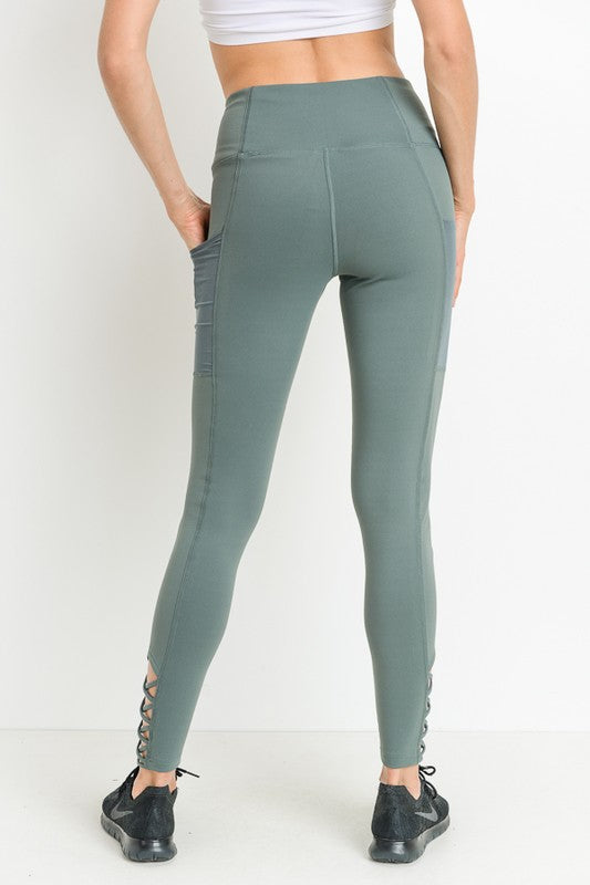 Criss-Cross Strap Pocket Leggings