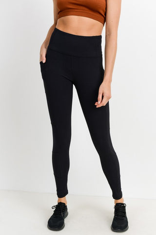 Ribbed Leggings with Pockets