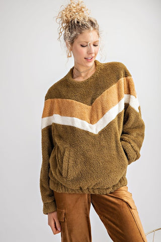 Chevron Fleece Sweater