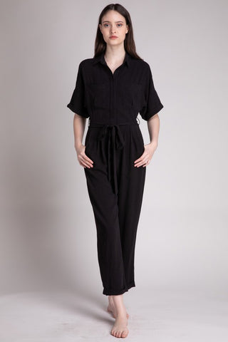 Grade & Gather Linen Utility Jumpsuit