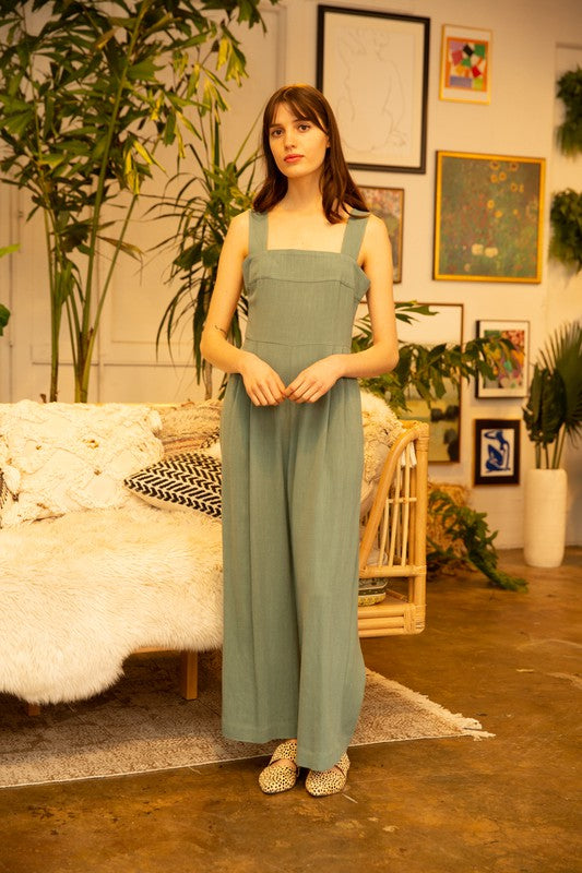 Grade & Gather Square Neck Jumpsuit