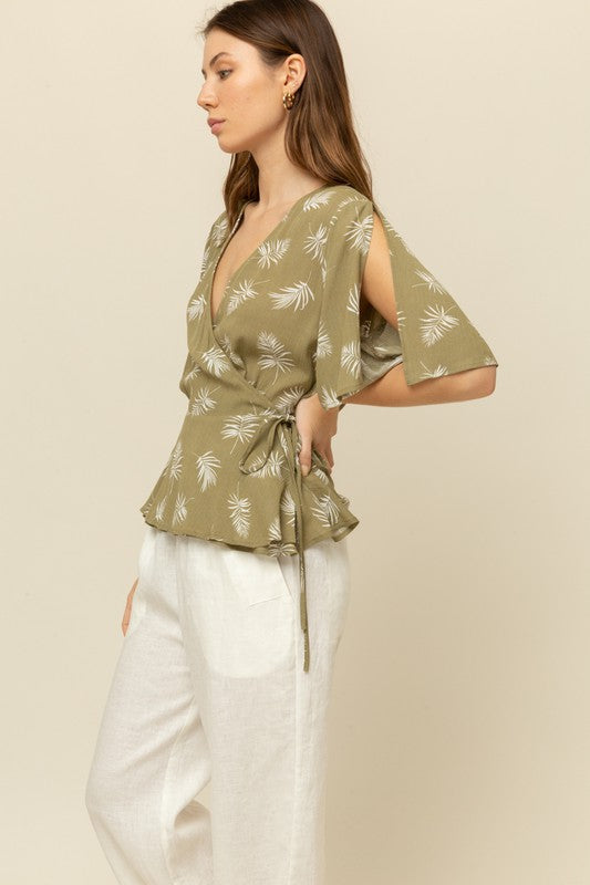 Grade & Gather Wrap Blouse