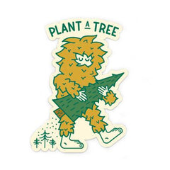 Bigfoot Tree Planter Sticker