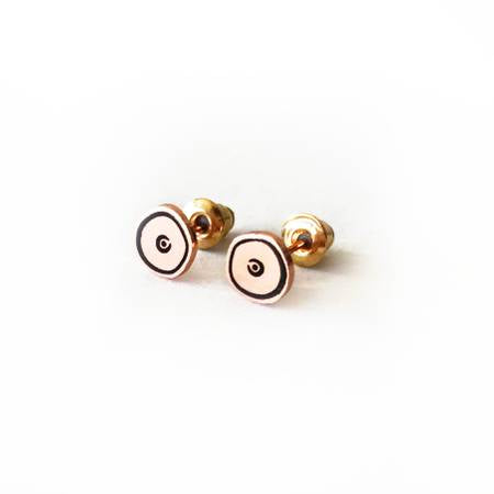 Rose Gold Plated Boob Studs