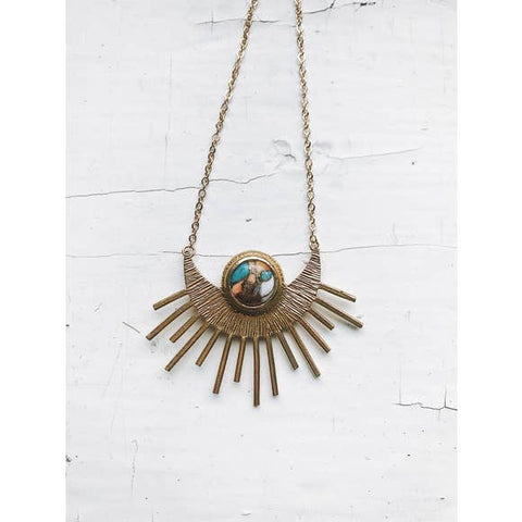 Sun Goddess Oyster Turquoise Necklace