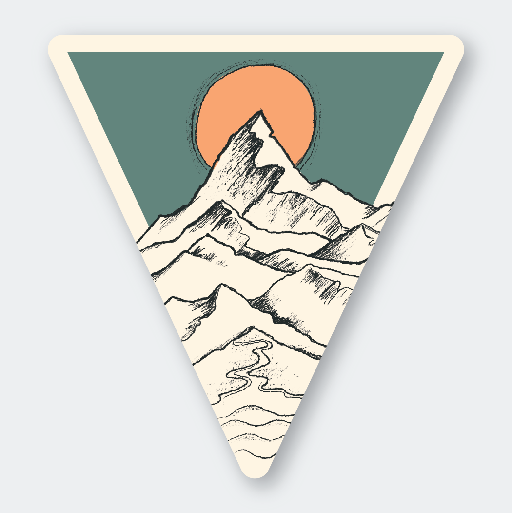 Tri Mountain Sketch Sticker