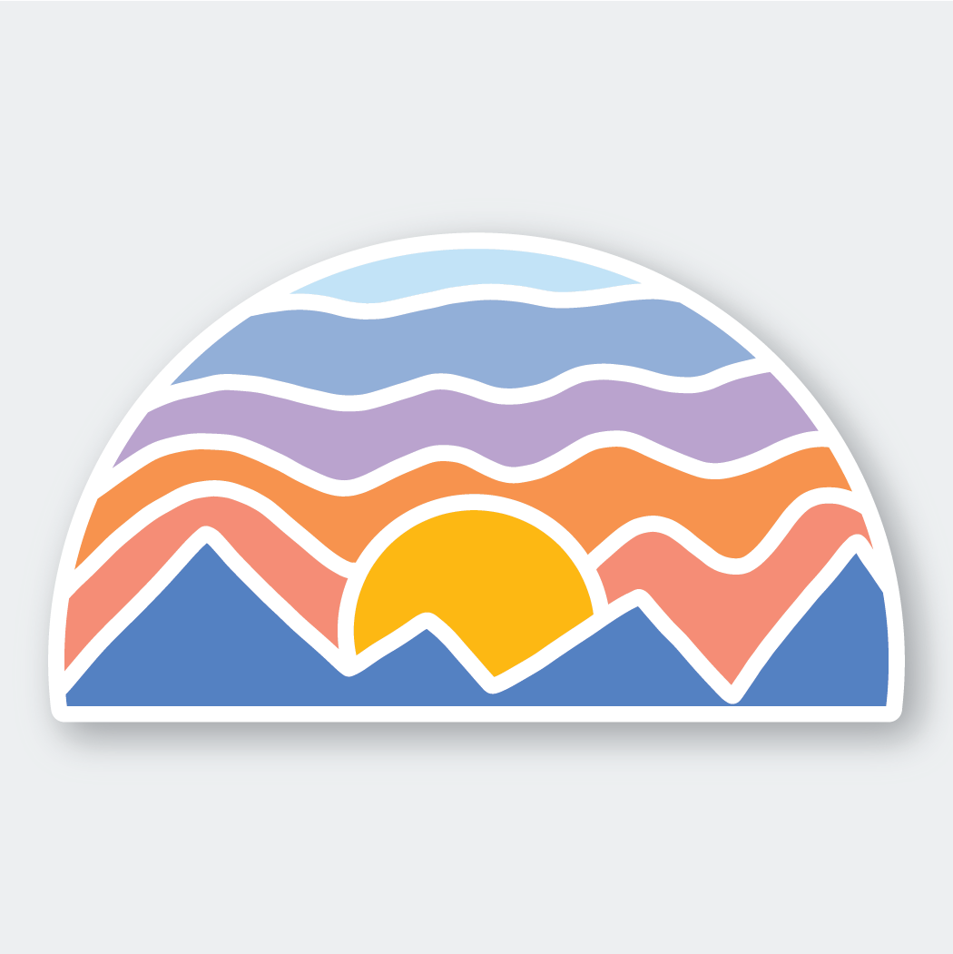 Mosaic Mountain Sticker