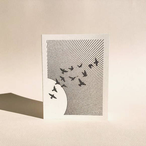 Flock Greeting Card