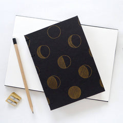 Moon Phase Hardcover Notebook